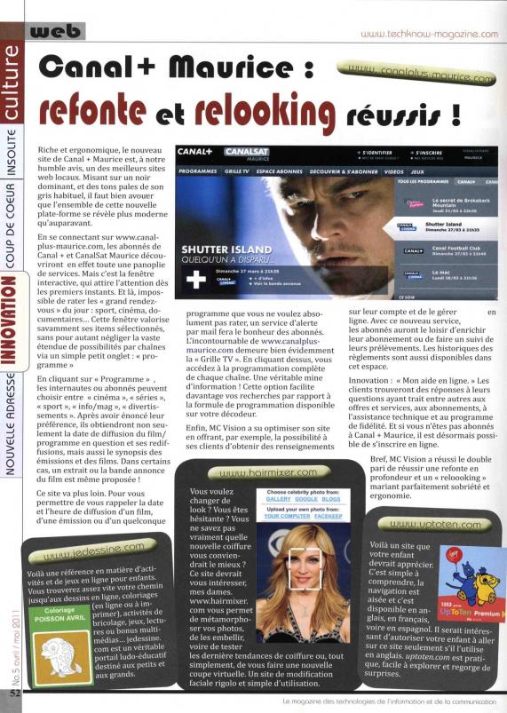 Canal Plus Maurice vu par la presse