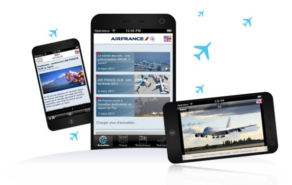 Noven réalise pour Air France sa dernière application iPhone