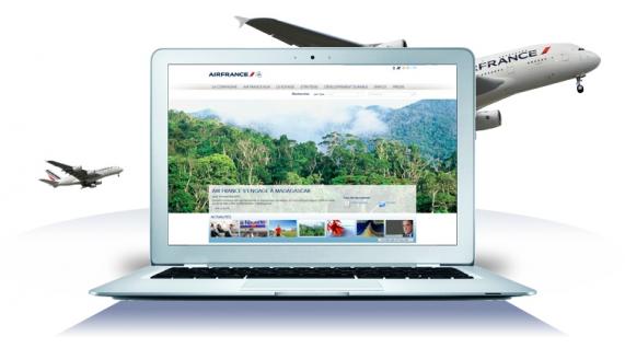 Noven présente le nouveau site web corporate d'Air France