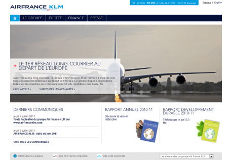 Home Page Air France KLM