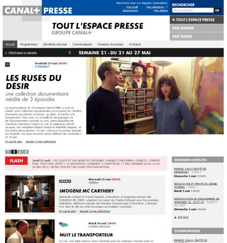 Espace Presse Canal+