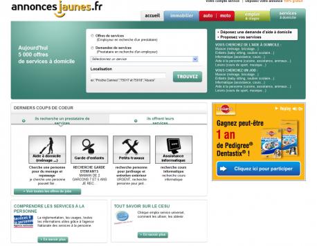 Home page Annonces Jaunes