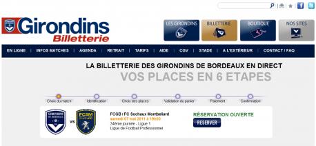 Home Page Billetterie en ligne des Girondins de Bordeaux