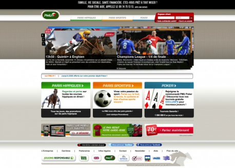 Home page du site web PMU
