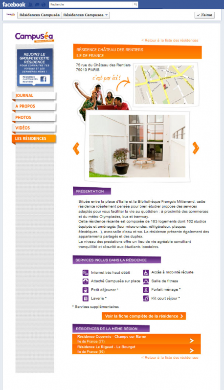 """Application """"Les Résidences Campuséa"""""""