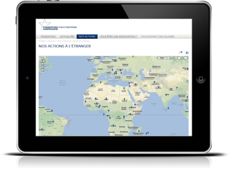 La Fondation Air France - Carte Interactive