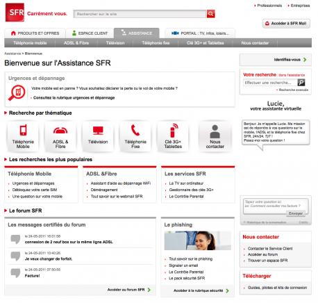 L'assistance SFR