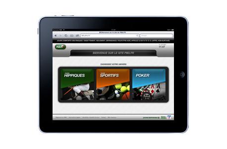 Home page PMU sur iPad