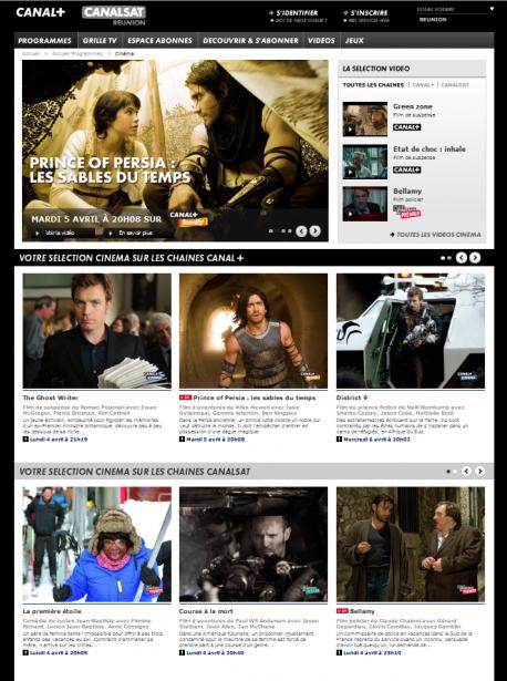 Page Programme Cinema