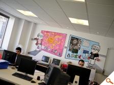 L'open space, sa fresque, notre équipe...